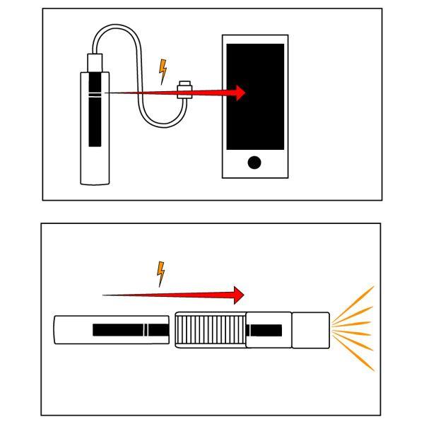 3-in-1 oplader zaklamp lantaarn