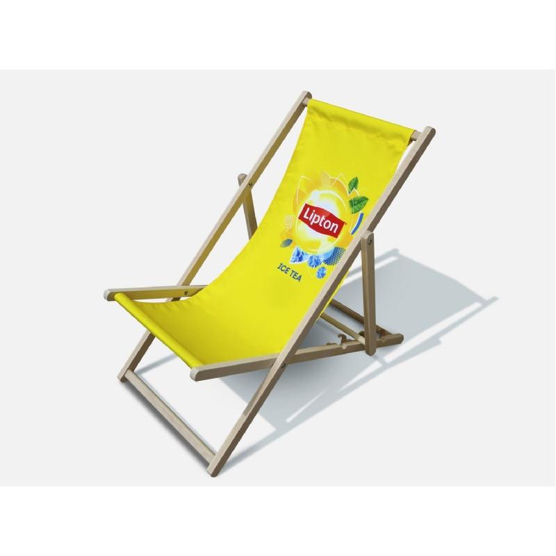 Strandstoel met groot drukoppervlak