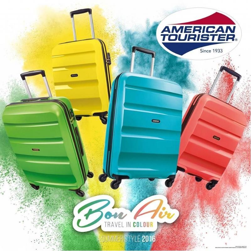 American Tourister: prachtige en stevige reiskoffer in vrolijke kleuren
