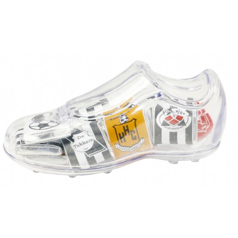 Transparante voetbalschoen met vulling