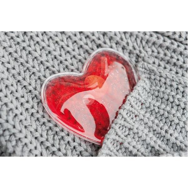 Handwarmer in de vorm van een hart