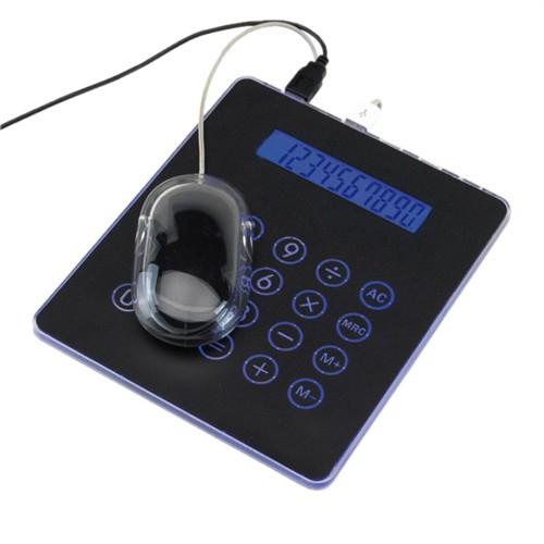 Muismat met geintregeerd rekenmachine