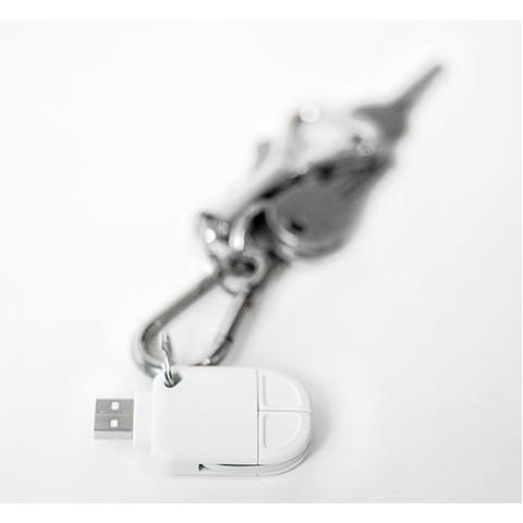 Laadkabel vermomd als sleutelhanger