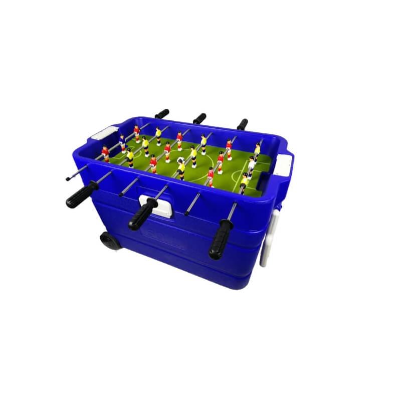koelbox met voetbaltafel