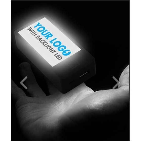 noodbatterij met oplichtend doming logo