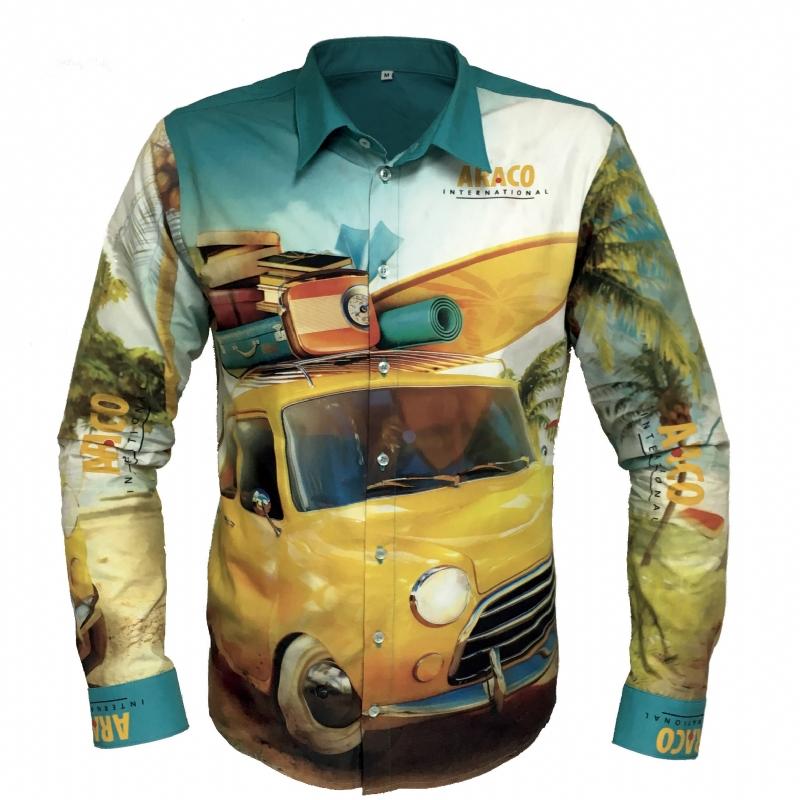 Fullcolour bedrukte blouse / overhemd