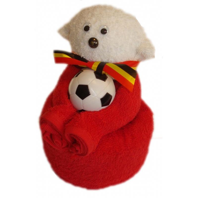 Towel doll voetbalbeer