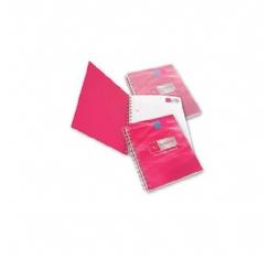 Papier blok met kartonnen cover met spiraal en penhouder, Z-vorm