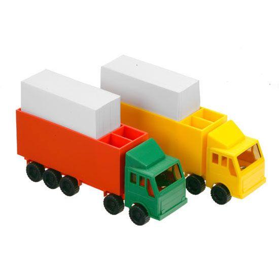 Vrachtwagen met notitieblok