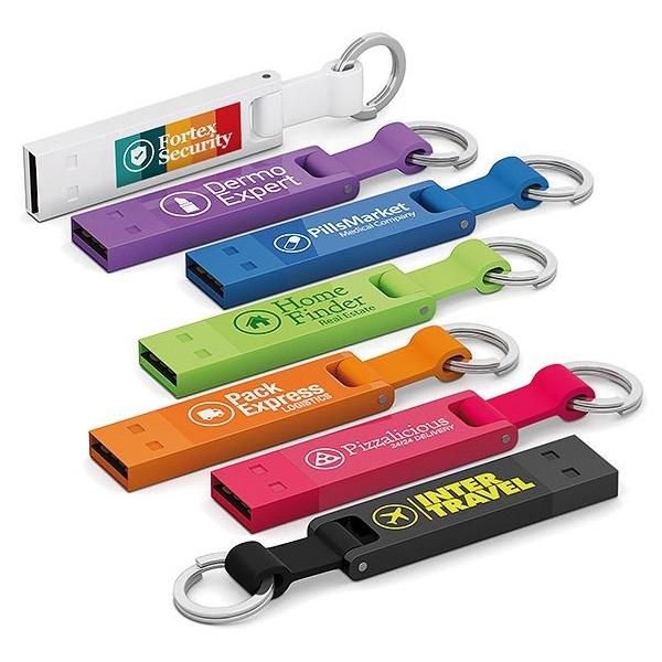 USB-stick en sleutelhanger