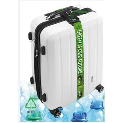 Kofferriem uit 12 gerecycleerde plastiek flessen
