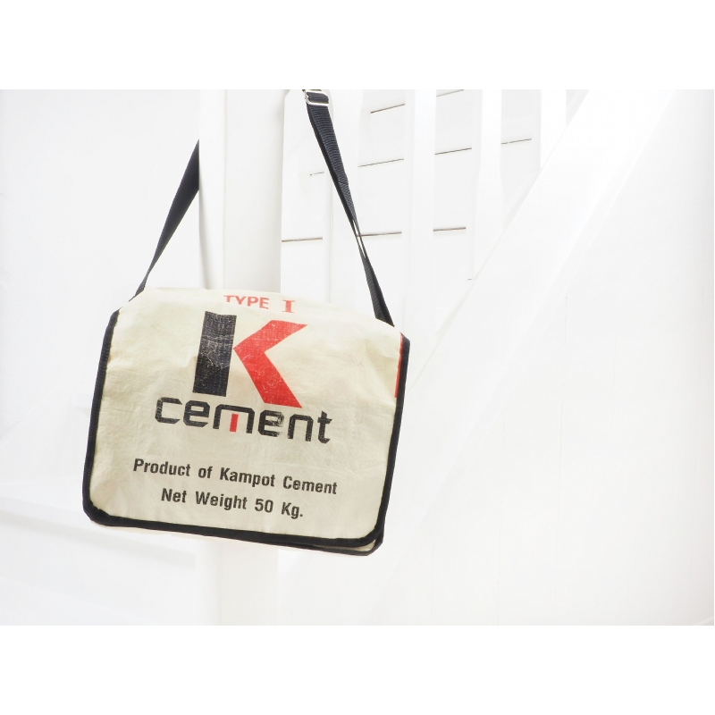 Fair Trade Schoudertas 'K-cement'
