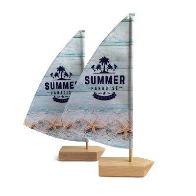 Mini beachflag zeilboot