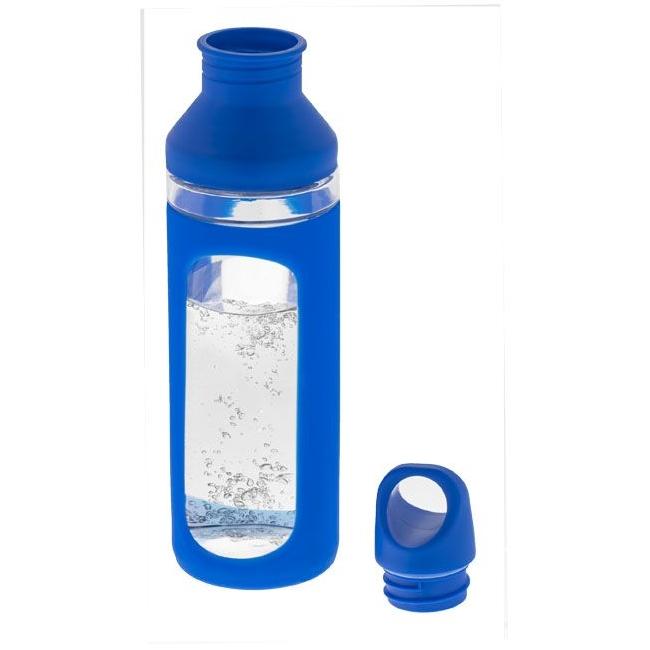 Glazen fles met gekleurde accenten