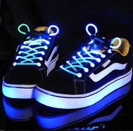 Lichtgevende schoenveters met logo