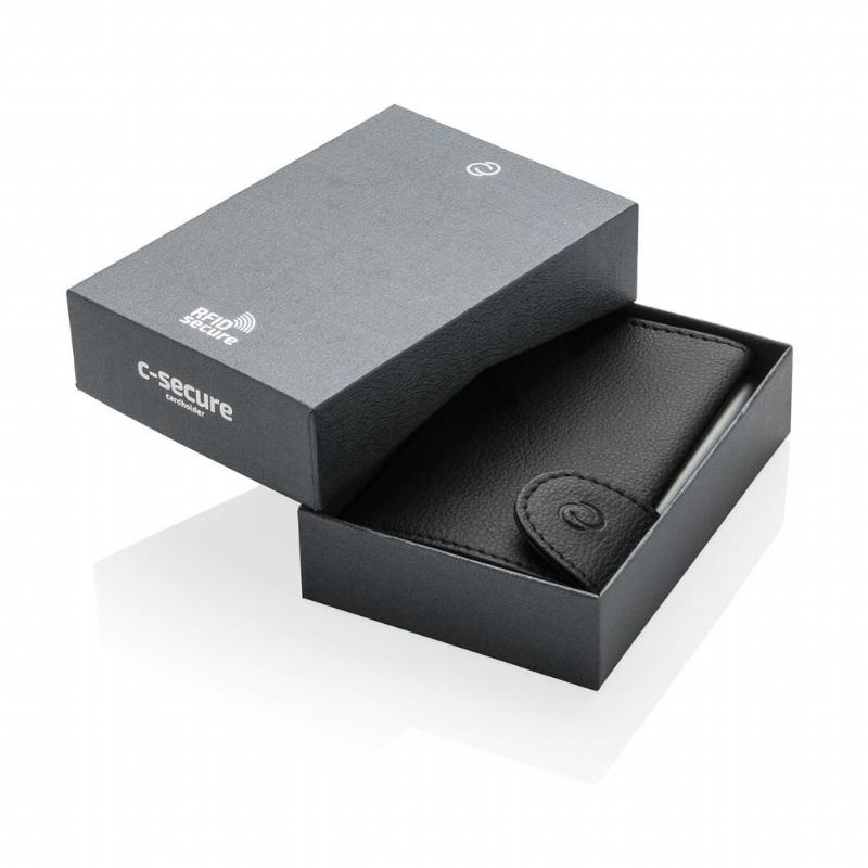 C-Secure aluminium RFID kaarthouder & portemonnee,