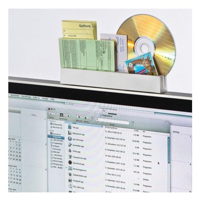 Memoholder op beeldscherm
