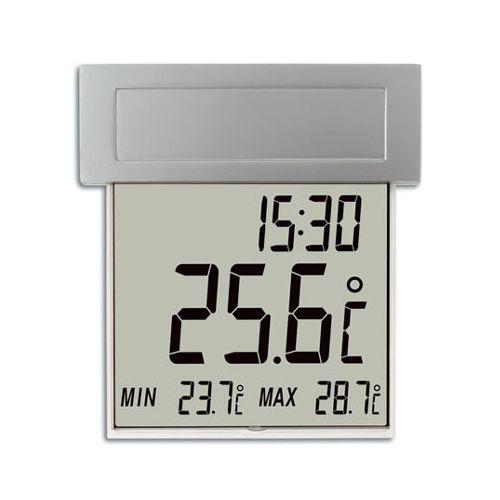 Digitale raamthermometer op zonnecellen